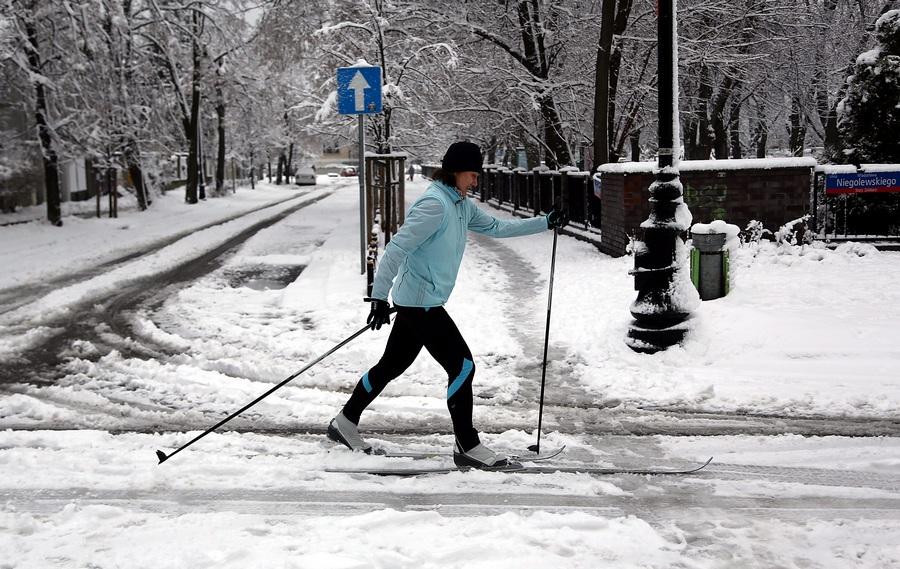 Снежный апрель в Польше (5 фото)