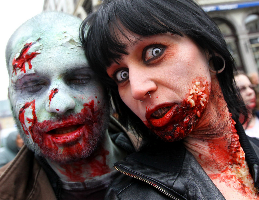 Парад монстров в Брюсселе (5 фото)