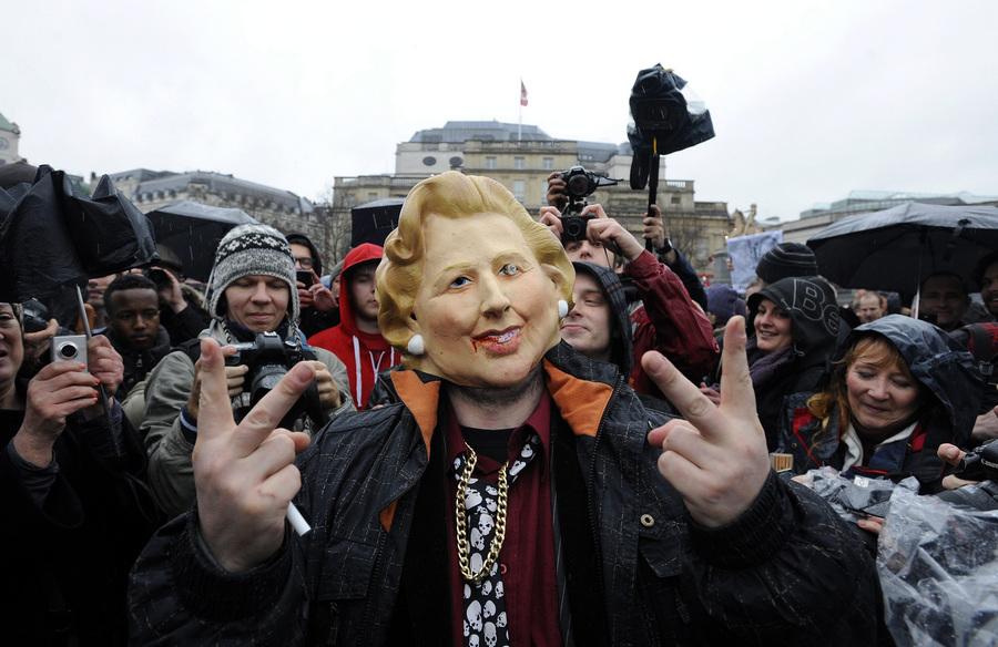 Акция против политики М.Тэтчер прошла в Лондоне