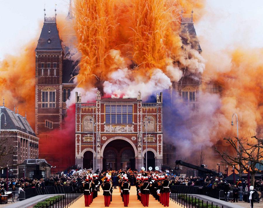 Церемония открытия Государственного музея Нидерландов после реконструкции (6 фото)