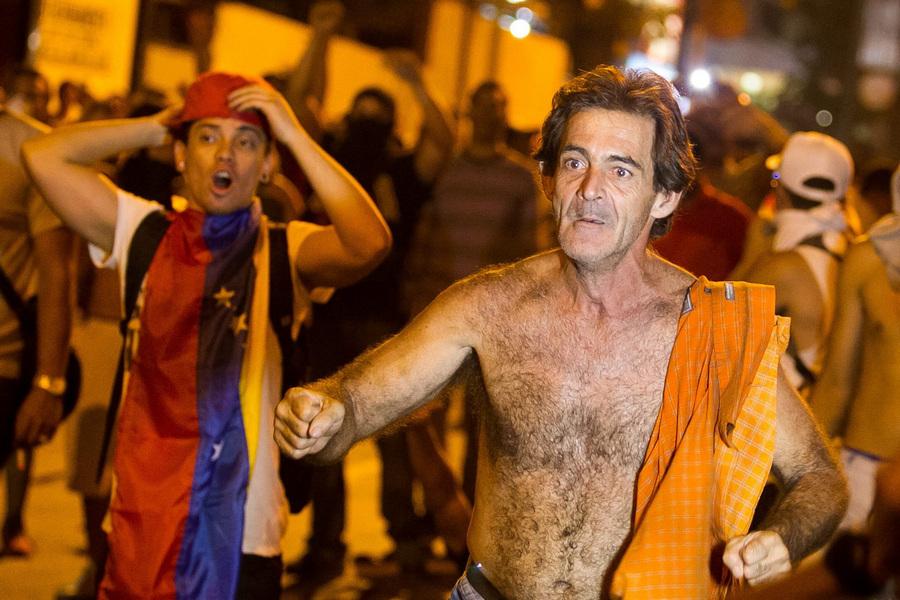 Акция протеста сторонников Энрике Каприлеса в Каракасе