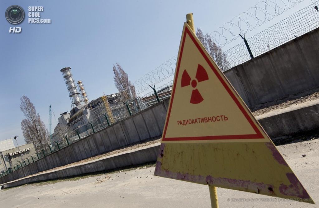 Украина. Чернобыль, Киевская область. 23 апреля. Чернобыльская АЭС накануне годовщины аварии 26 апреля 1986 года. (EPA/ИТАР-ТАСС/SERGEY DOLZHENKO)