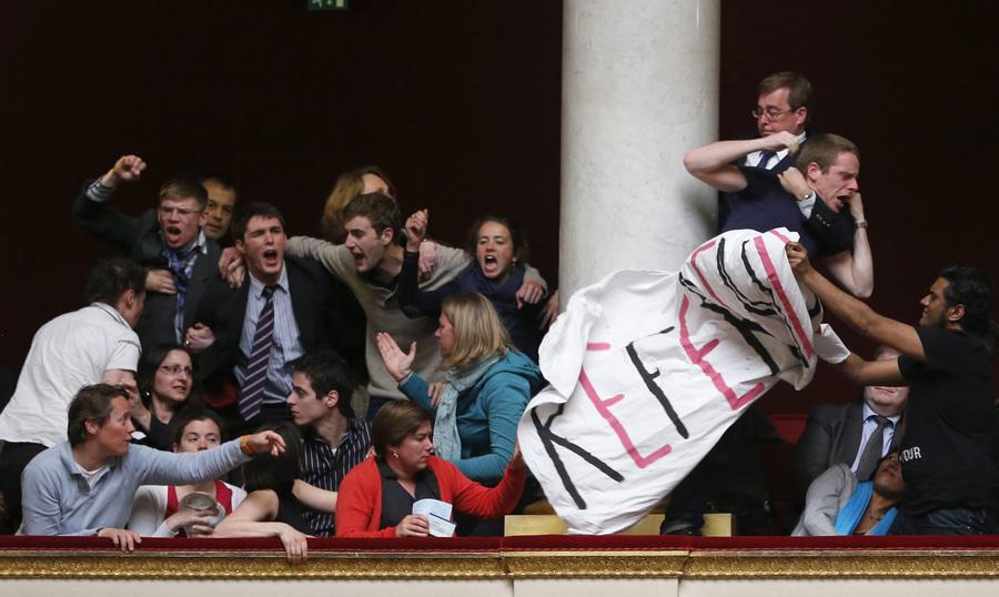 Во Франции одобрен закон об однополых браках (14 фото)