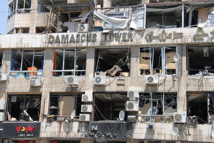 Теракт у здания МВД в Дамаске, погибли 13 человек (8 фото)