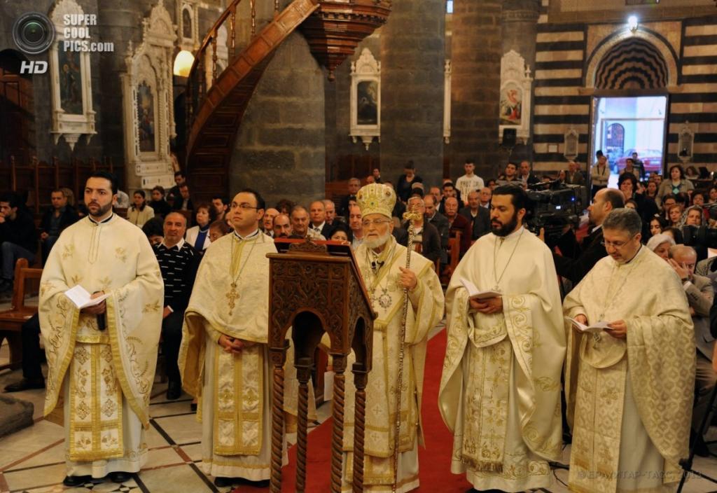 Католическая Пасха в Дамаске, Сирия. (EPA/SANA)
