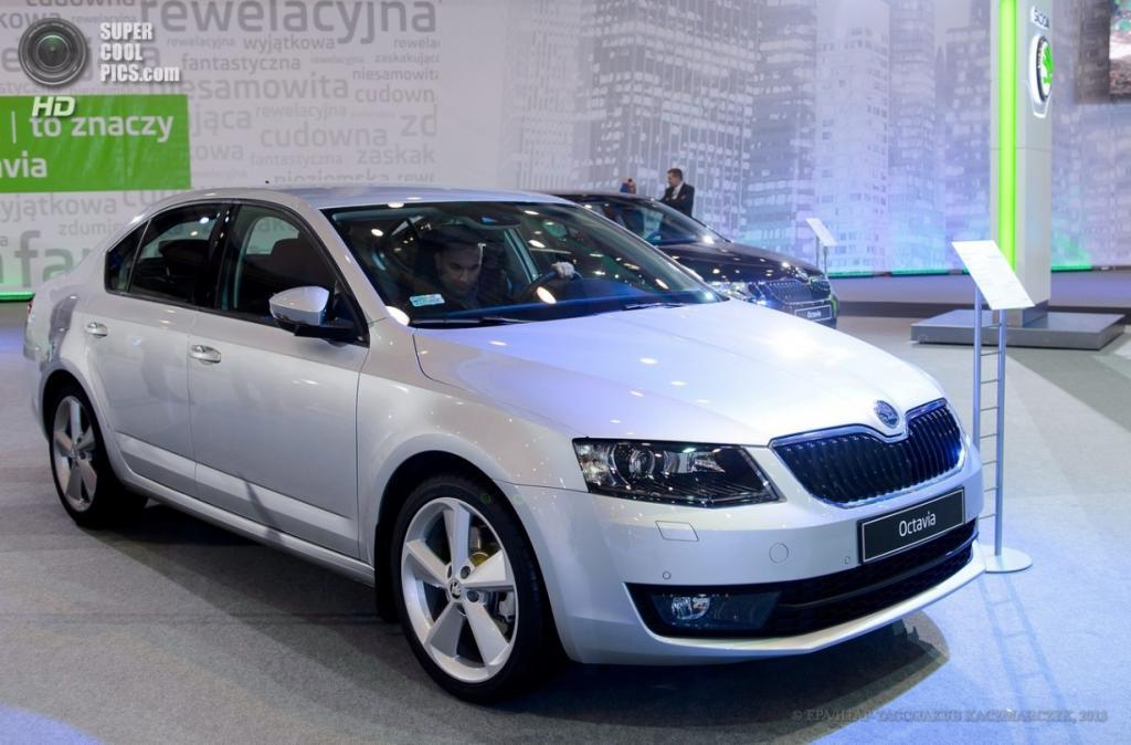 Польша. Познань. 4 апреля. Škoda Octavia среди автомобилей Познаньского международного автосалона 2013. (EPA/ИТАР-ТАСС/JAKUB KACZMARCZYK)