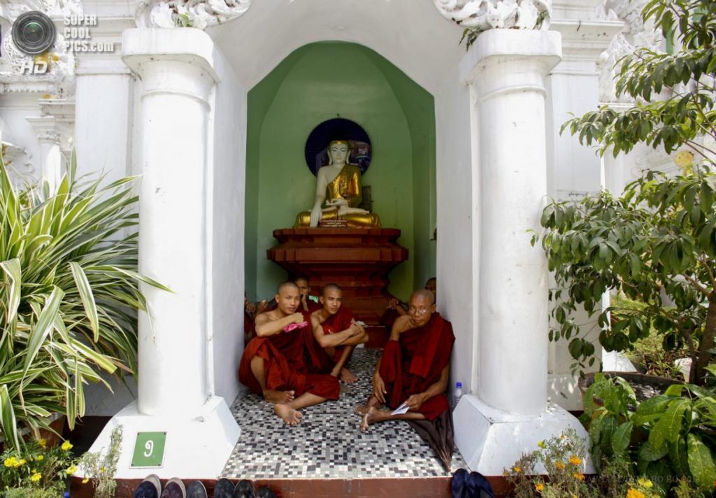 Мьянма. Янгон. 17 апреля. Отдых в тени. (EPA/ИТАР-ТАСС/LYNN BO BO)