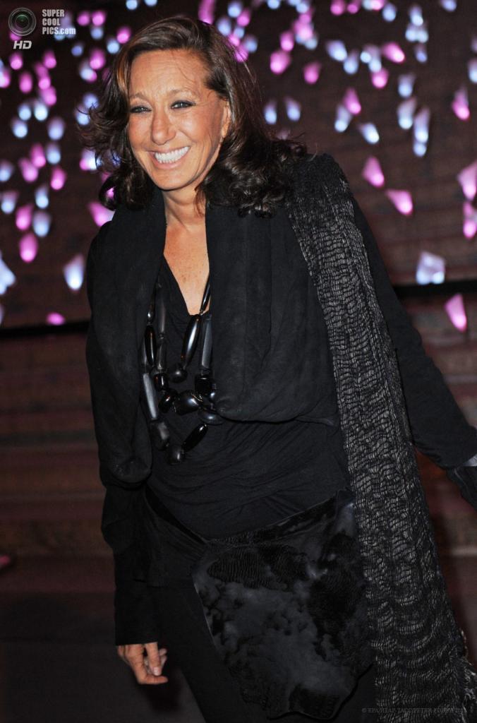 США. Нью-Йорк. 16 апреля. Американский модельер Донна Каран. (EPA/ИТАР-ТАСС/PETER FOLEY)