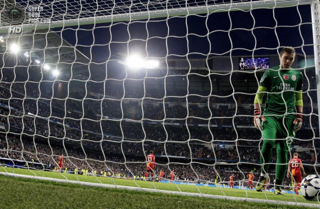 Испания. Мадрид. 3 апреля. Первый матч 1/4 финала Лиги чемпионов между «Реалом» и «Галатасараем»