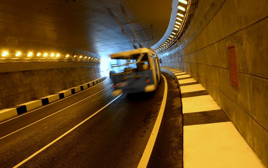Открылась двухуровневая транспортная развязка на Каширском шоссе (6 фото)