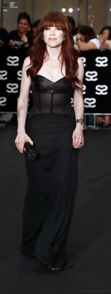 Сингапур. 23 мая. Американская певица Карли Рэй Джепсен на 5-й церемонии вручения премии Social Star Awards. (EPA/ИТАР-ТАСС/STEPHEN MORRISON)