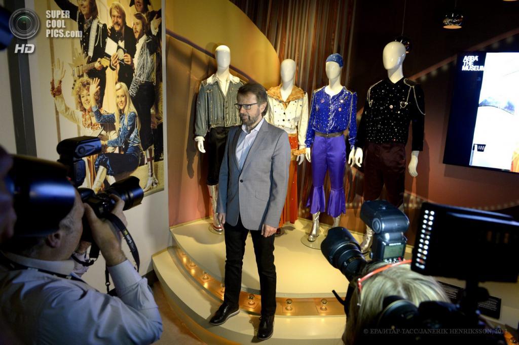 Швеция. Стокгольм. 6 мая. Бьорн Ульвеус во время торжественного вечера, посвященного открытию музея группы «АББА» в выставочном комплексе «Шведский музыкальный зал славы». (EPA/ИТАР-ТАСС/JANERIK HENRIKSSON)