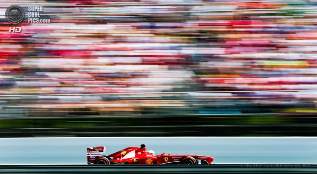 Испания. Монтмело, Каталония. 12 мая. Гонщик команды Scuderia Ferrari Фернандо Алонсо на Гран-при Испании. (EPA/ИТАР-ТАСС/VSRDJAN SUKI)