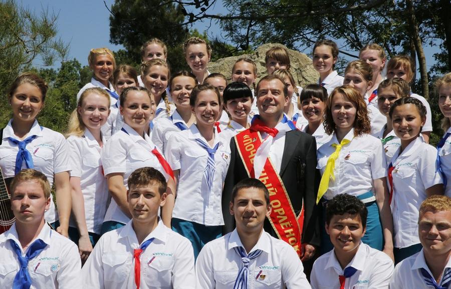 Рабочая поездка Медведева в Краснодарский край
