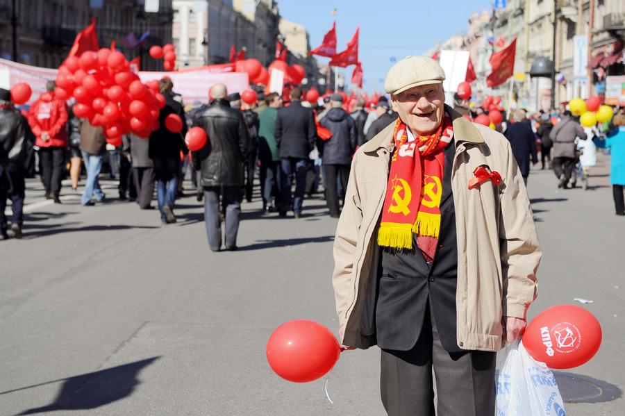Первомайские митинги и демонстрации в регионах России