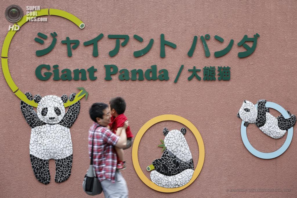 Япония. Токио. 28 мая. Посетители зоопарка «Уэно». (EPA/ИТАР-ТАСС/KIYOSHI OTA)