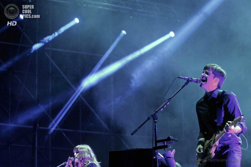 Испания. Барселона, Каталония. 23 мая. Выступление Postal Service на музыкальном фестивале Primavera Sound 2013. (EPA/ИТАР-ТАСС/MARTA PEREZ)