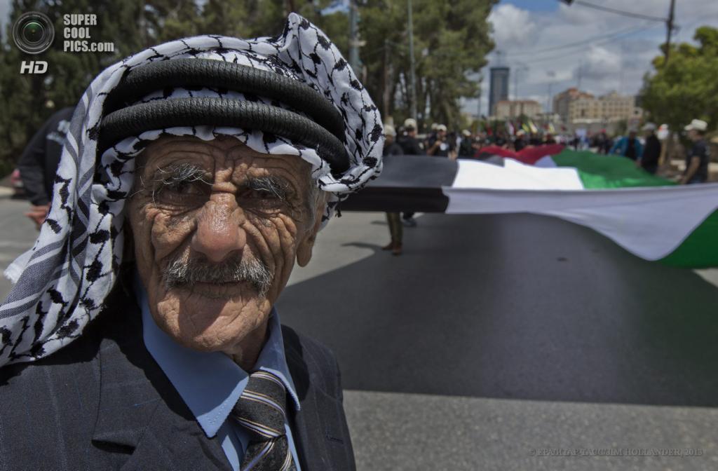 Палестина. Рамалла. 15 мая. Во время демонстраций в честь «Дня Накба». (EPA/ИТАР-ТАСС/JIM HOLLANDER)