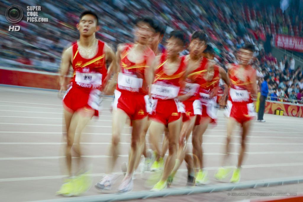Китай. Пекин. 21 мая. Китайские ходоки на этапе Мирового вызова ИААФ. (EPA/ИТАР-ТАСС/DIEGO AZUBEL)