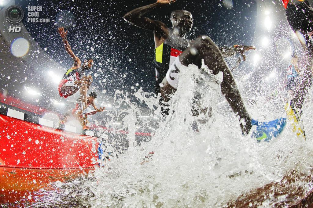 Китай. Пекин. 21 мая. Соревнования по стиплчейзу на этапе Мирового вызова ИААФ. (EPA/ИТАР-ТАСС/DIEGO AZUBEL)