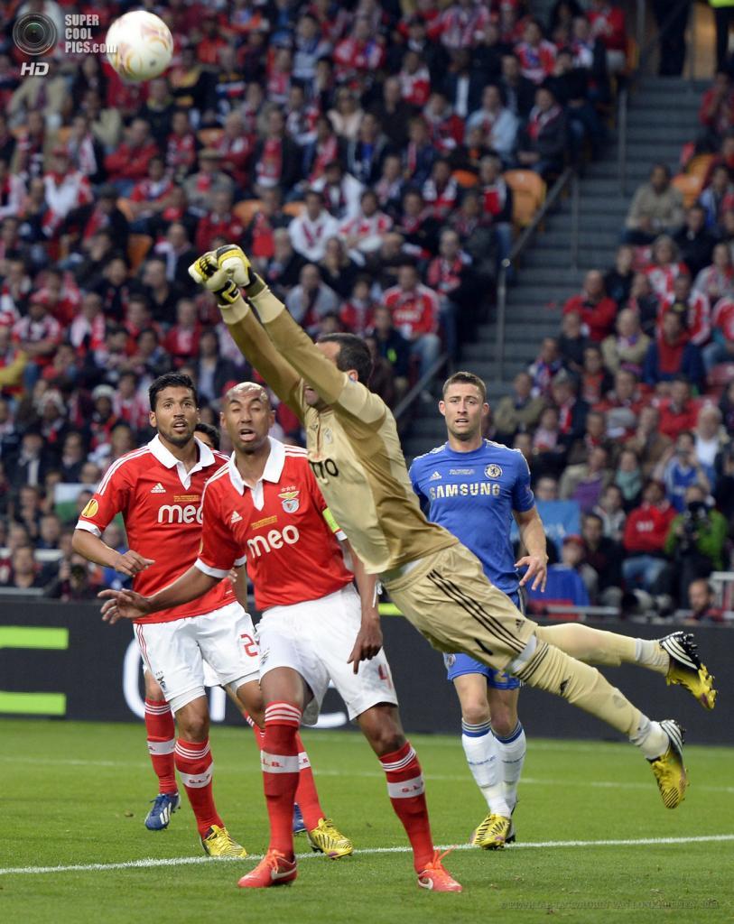 Нидерланды. Амстердам. 15 мая. Финал Лиги Европы УЕФА между лиссабонской «Бенфикой» и лондонским «Челси». (EPA/ИТАР-ТАСС/ROBIN VAN LONKHUIJSEN)