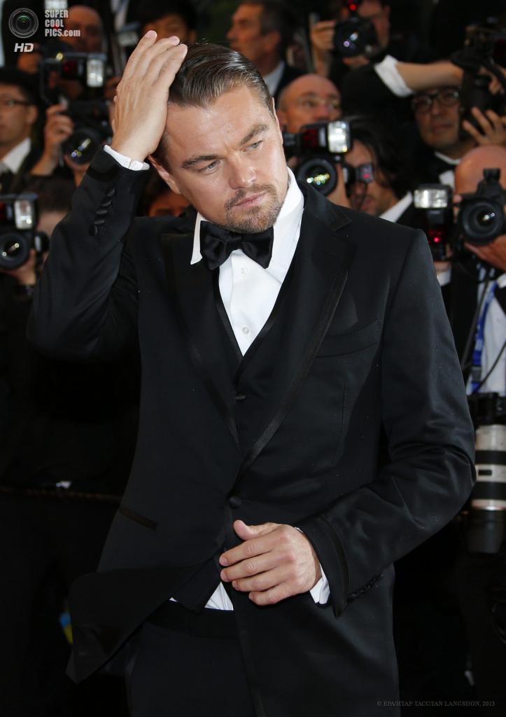 Франция. Канны. 15 мая. Американский актер Леонардо ди Каприо на церемонии открытия 66-го Каннского кинофестиваля. (EPA/ИТАР-ТАСС/IAN LANGSDON)