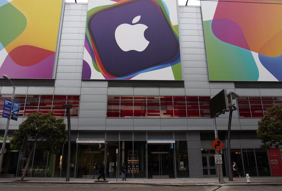 США. Сан-Франциско, Калифорния. 10 июня. На открытии WWDC 2013 — всемирной конференции Apple для разработчиков. (EPA/ИТАР-ТАСС/MONICA M. DAVEY)