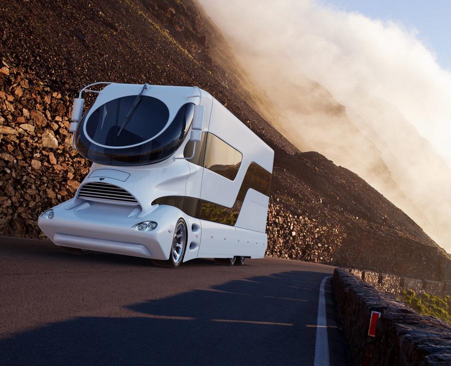 eleMMent Palazzo, выпущенный австрийской компанией Marchi Mobile — самый дорогостоящий автодом на планете. Его стоимость — €2,22 млн. (EPA/ИТАР-ТАСС/HANDOUT)