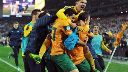 Австралия вышла на чемпионат мира по футболу (15 фото + HD-видео)