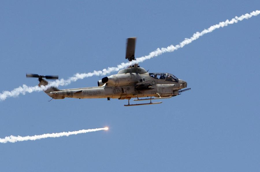 Иордания. Кувейра, Маан. 19 июня. Во время совместных военных учений США и Иордании «Eager Lion». (EPA/ИТАР-ТАСС/JAMAL NASRALLAH)