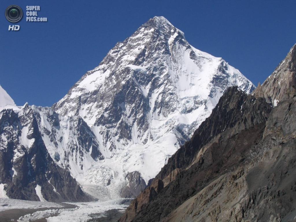 Граница Кашмира и Китая. Горная систем Каракорум. Чогори. Высота вершины 8614 м. (Svy123)