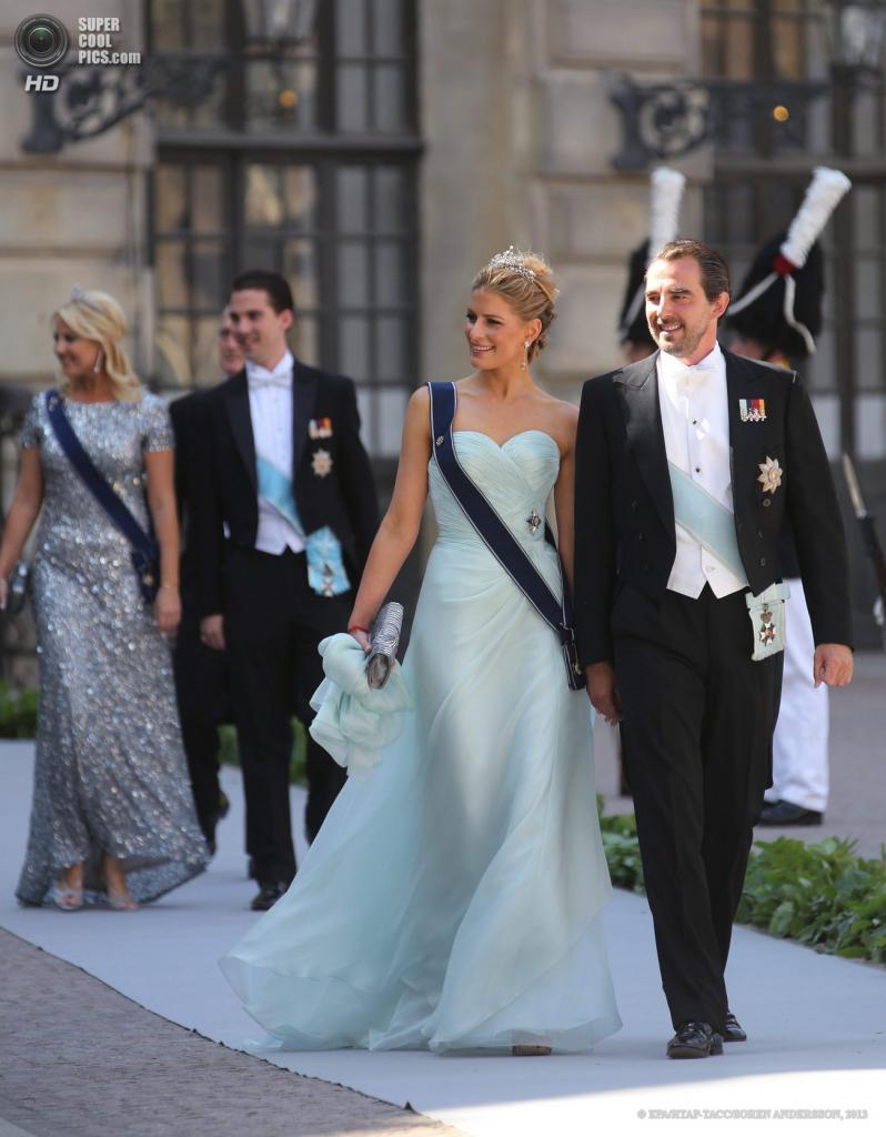 Швеция. Стокгольм. 8 июня. Принц Греции Николас с супругой Татьяной. (EPA/ИТАР-ТАСС/SOREN ANDERSSON)