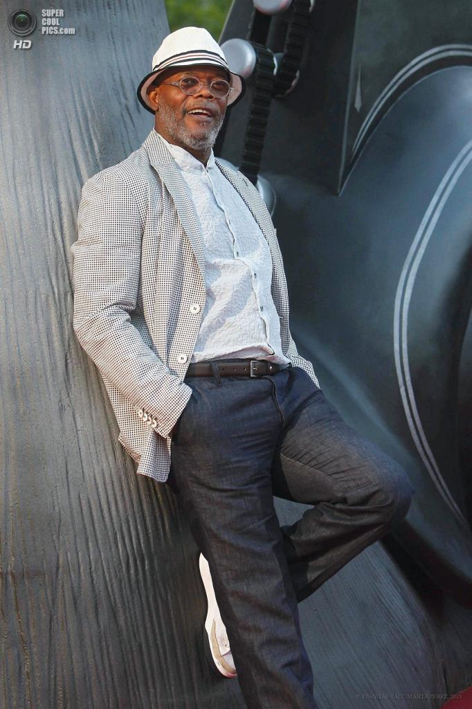 Испания. Барселона. 25 июня. Актер Сэмюэл Л. Джексон, озвучивший улитку Хлиста. (EPA/ИТАР-ТАСС/MARTA PEREZ)