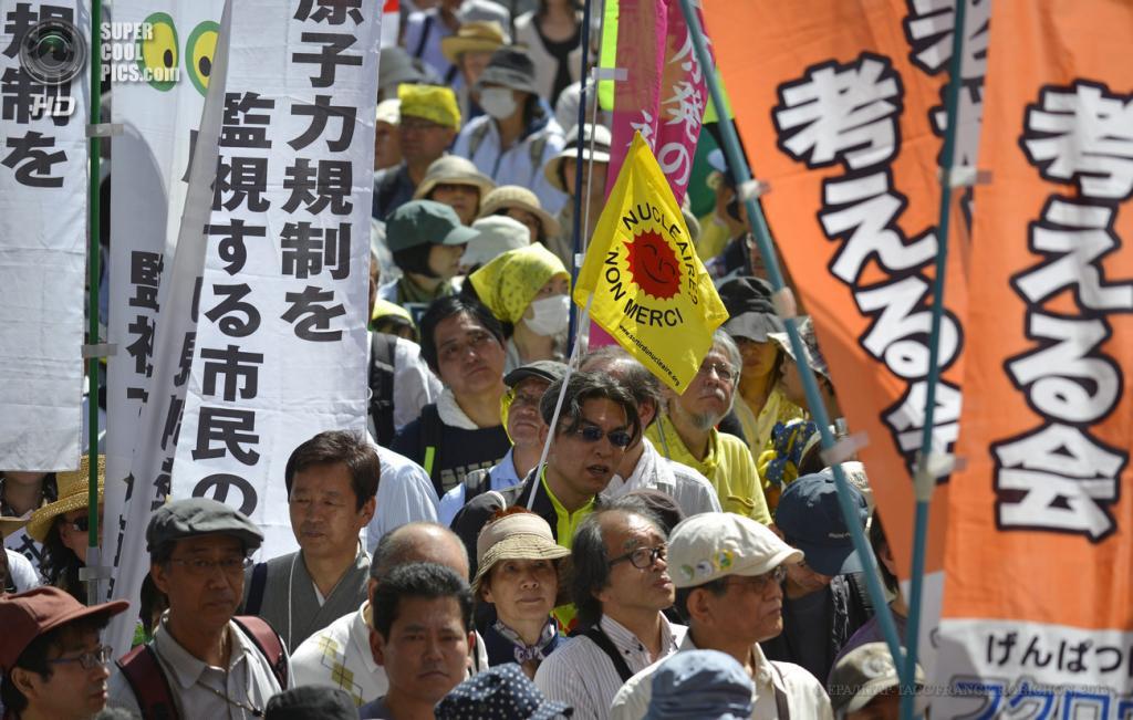 Япония. Токио. 2 июня. Акция протеста против использования атомной энергии. (EPA/ИТАР-ТАСС/FRANCK ROBICHON)