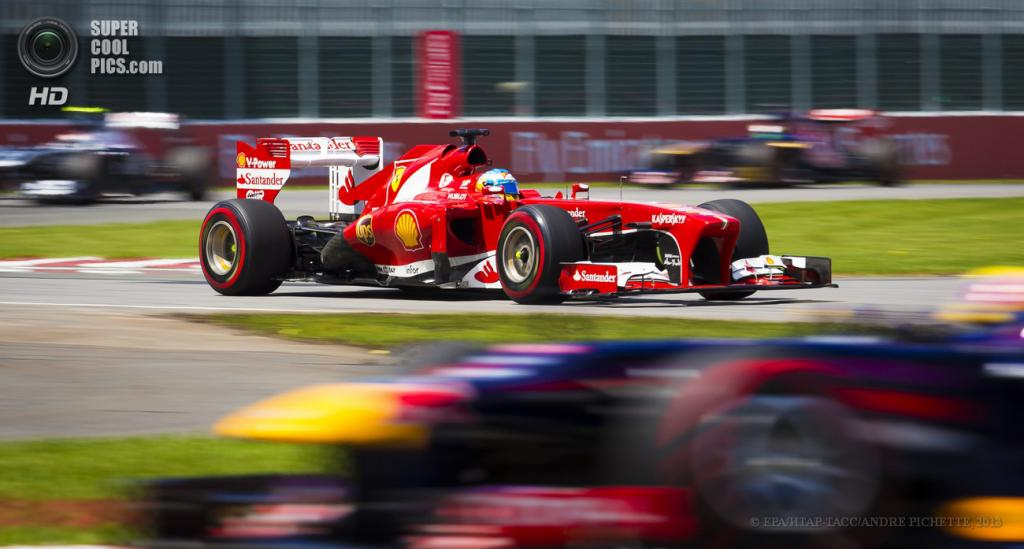 Канада. Монреаль, Квебек. 9 июня. Фернандо Алонсо на Гран-при Канады. (EPA/ИТАР-ТАСС/ANDRE PICHETTE)