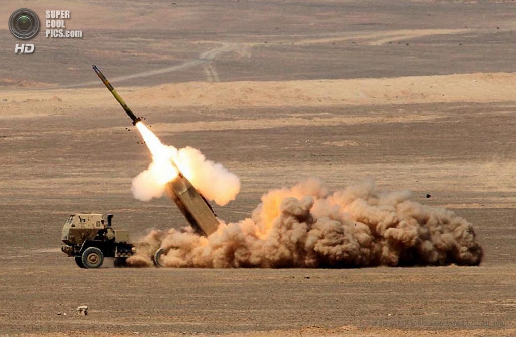 Иордания. Кувейра, Маан. 18 июня. Во время совместных военных учений США и Иордании «Eager Lion». (EPA/ИТАР-ТАСС/JAMAL NASRALLAH)