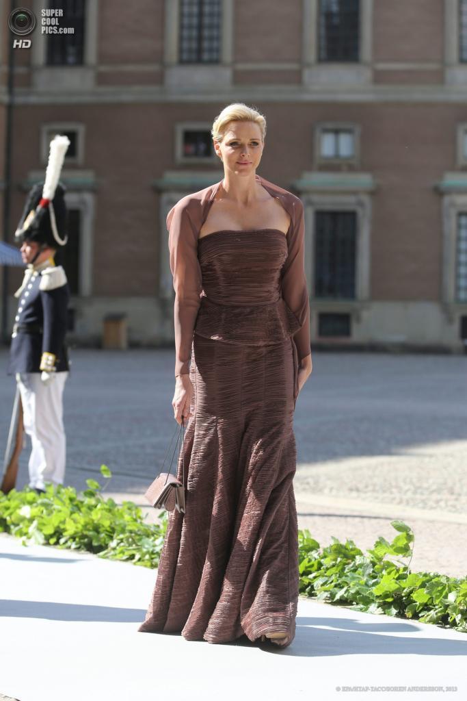 Швеция. Стокгольм. 8 июня. Княгиня Монако Шарлен. (EPA/ИТАР-ТАСС/SOREN ANDERSSON)