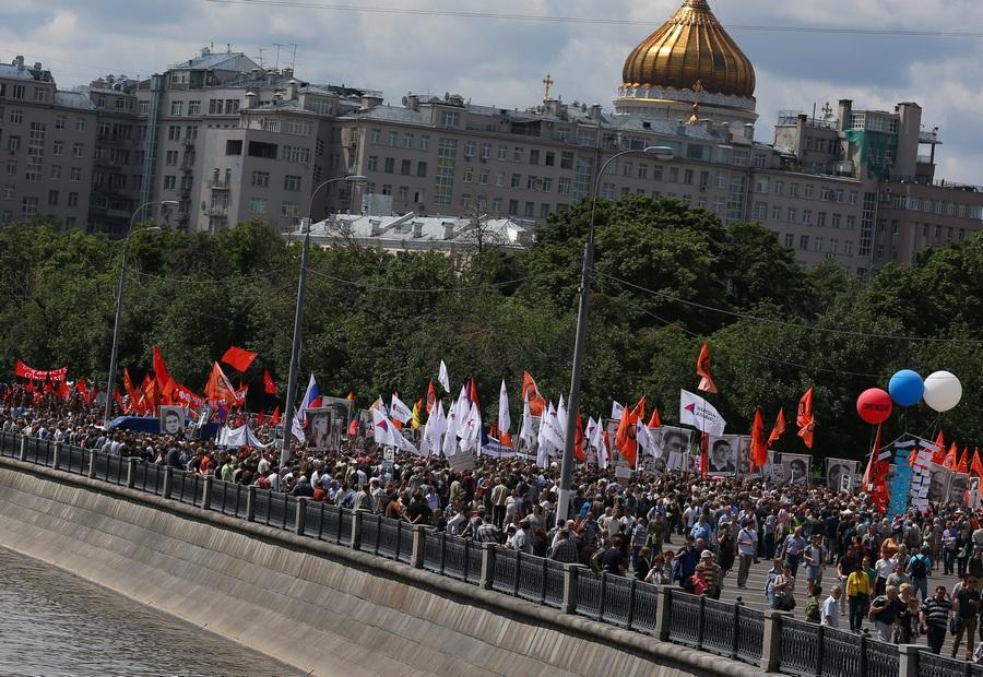 Шествие оппозиции в День России (14 фото)
