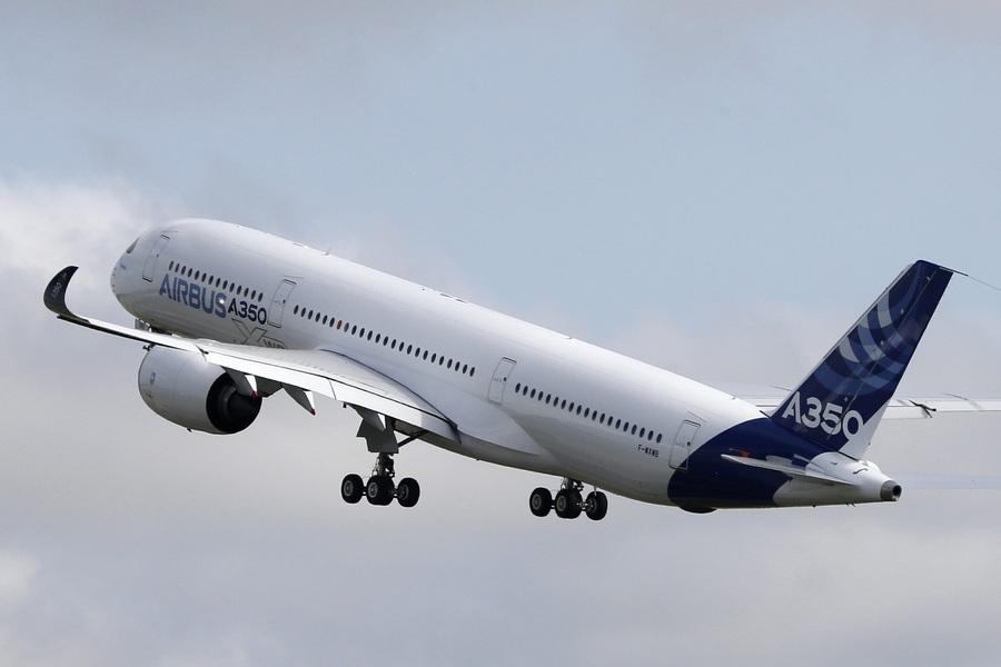 Ïåðâûé ïîëåò àâèàëàéíåðà Airbus A350 âî Ôðàíöèè
