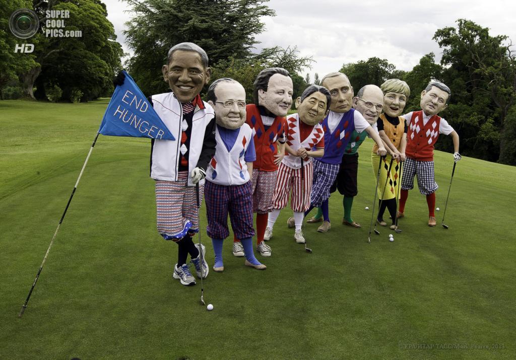 Великобритания. Лох-Эрн. 18 июня. Во время акции против саммита G8. (EPA/ИТАР-ТАСС/Mark Pearce)