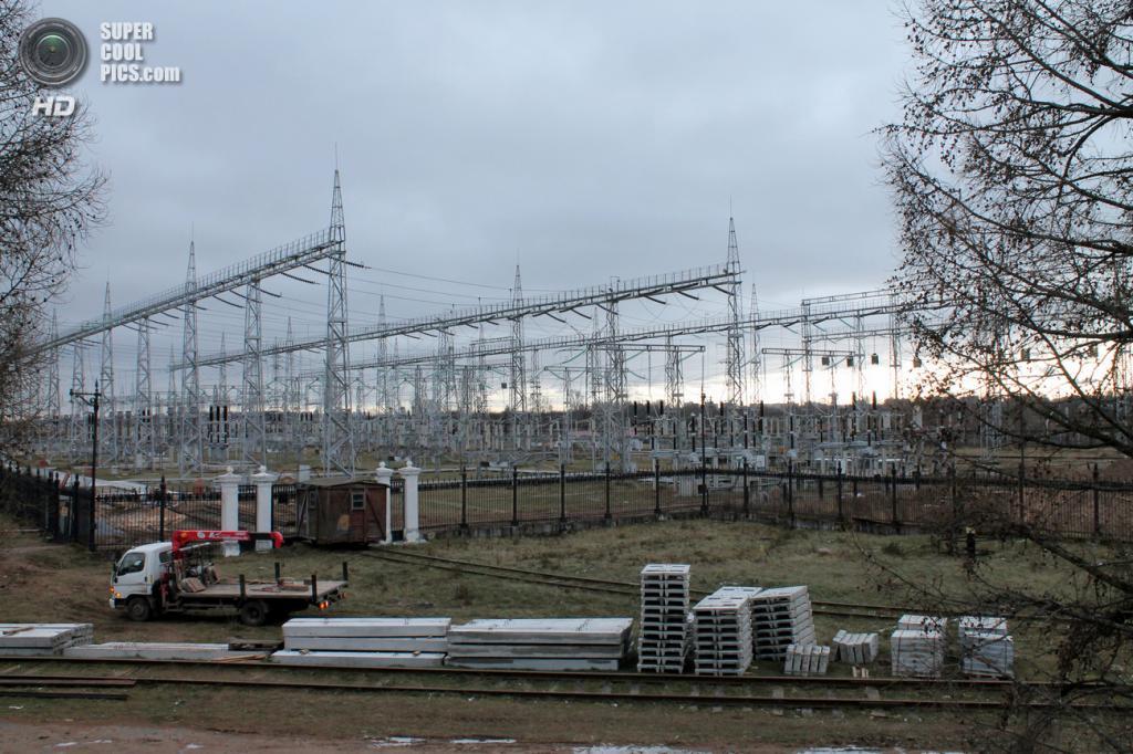 ОРУ Рыбинской ГЭС. (Сайга20К)