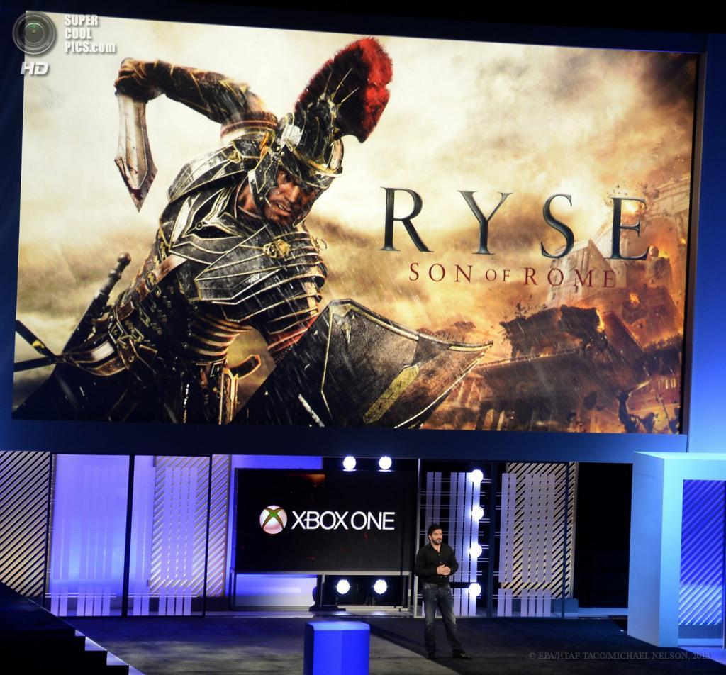 США. Лос-Анджелес, Калифорния. 10 июня. Презентация игры «Ryse: Son of Rome» на выставке E3 2013. (EPA/ИТАР-ТАСС/MICHAEL NELSON)
