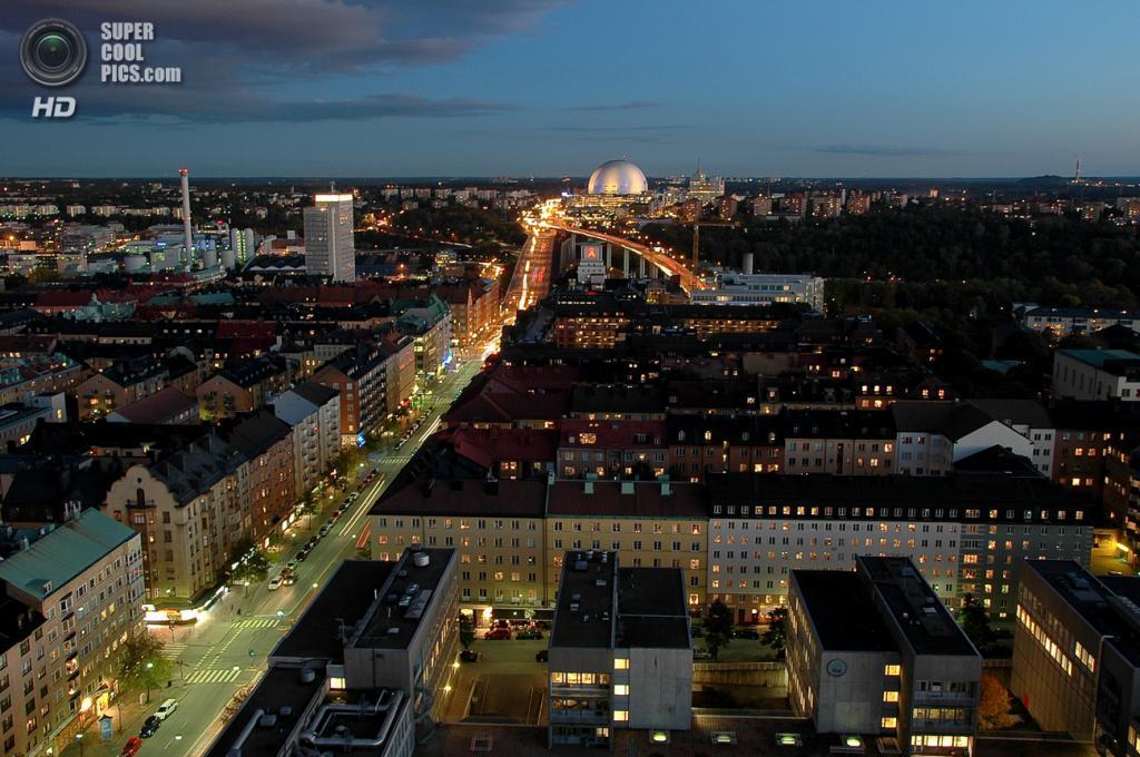 Швеция. Стокгольм. Вид на город из острова Сёдермальм. (Anders Pettersson)