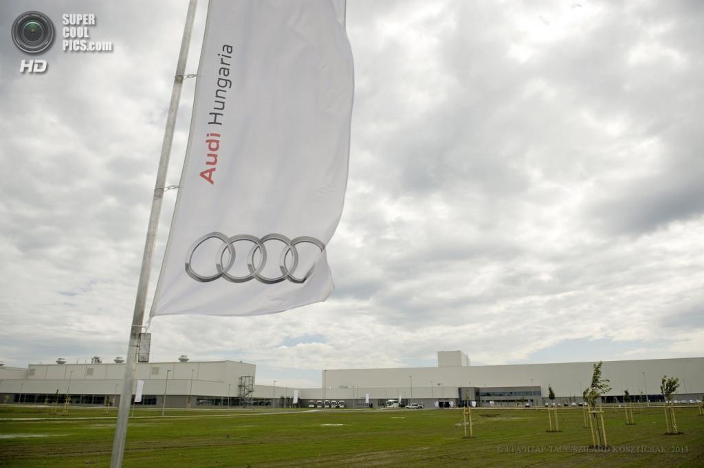 Венгрия. Дьёр. 12 июня. Общий вид на завод Audi. (EPA/ИТАР-ТАСС/SZILARD KOSZTICSAK)