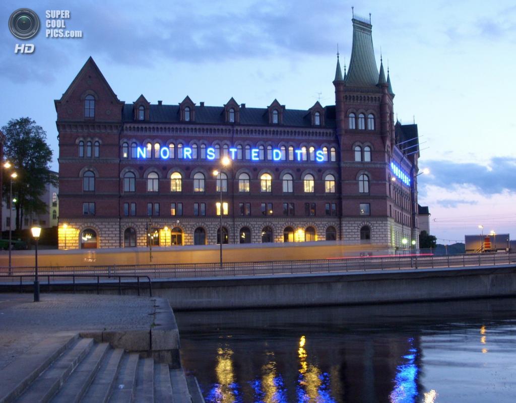 Швеция. Стокгольм. Штаб-квартира издательства Norstedts Förlag на острове Риддархольмен. (Holger.Ellgaard)