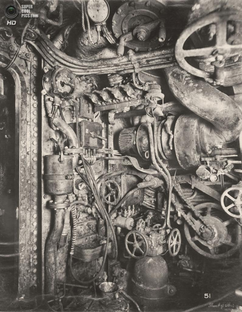 Великобритания. Уолсенд, Тайн-энд-Уир, Англия. 1918 год. Машинный отсек. (Tyne & Wear Archives & Museums)