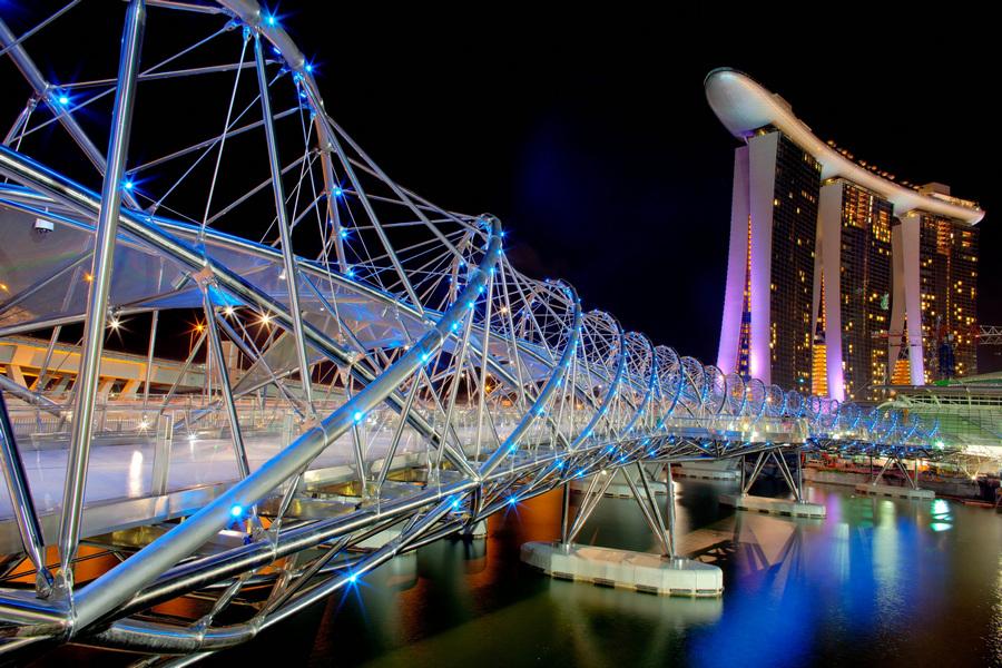 Сингапур. Спиральный мост. (Lucian Teo)