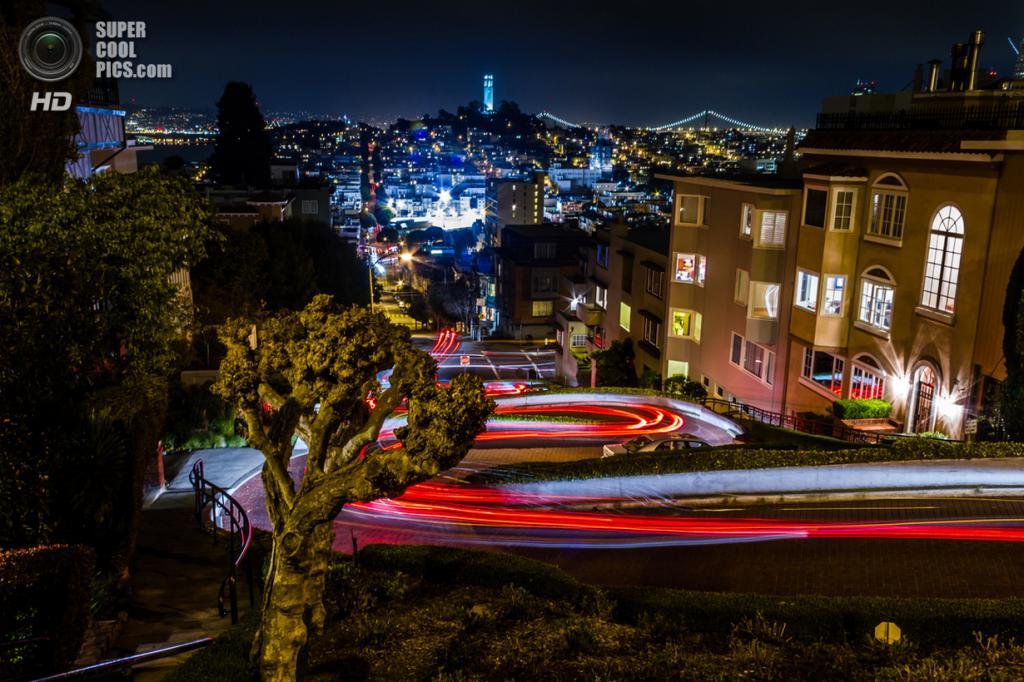 США. Сан-Франциско, Калифорния. Ломбард-стрит. (Toby Harriman)
