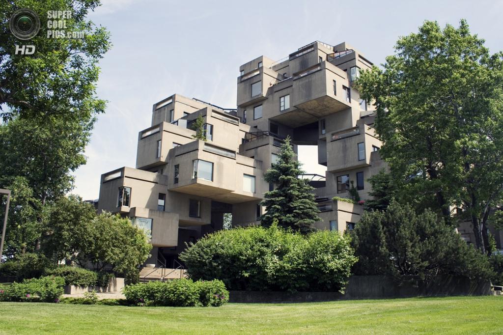 Канада. Монреаль, Квебек. «Хабитат 67». (Wilfried Zeise)