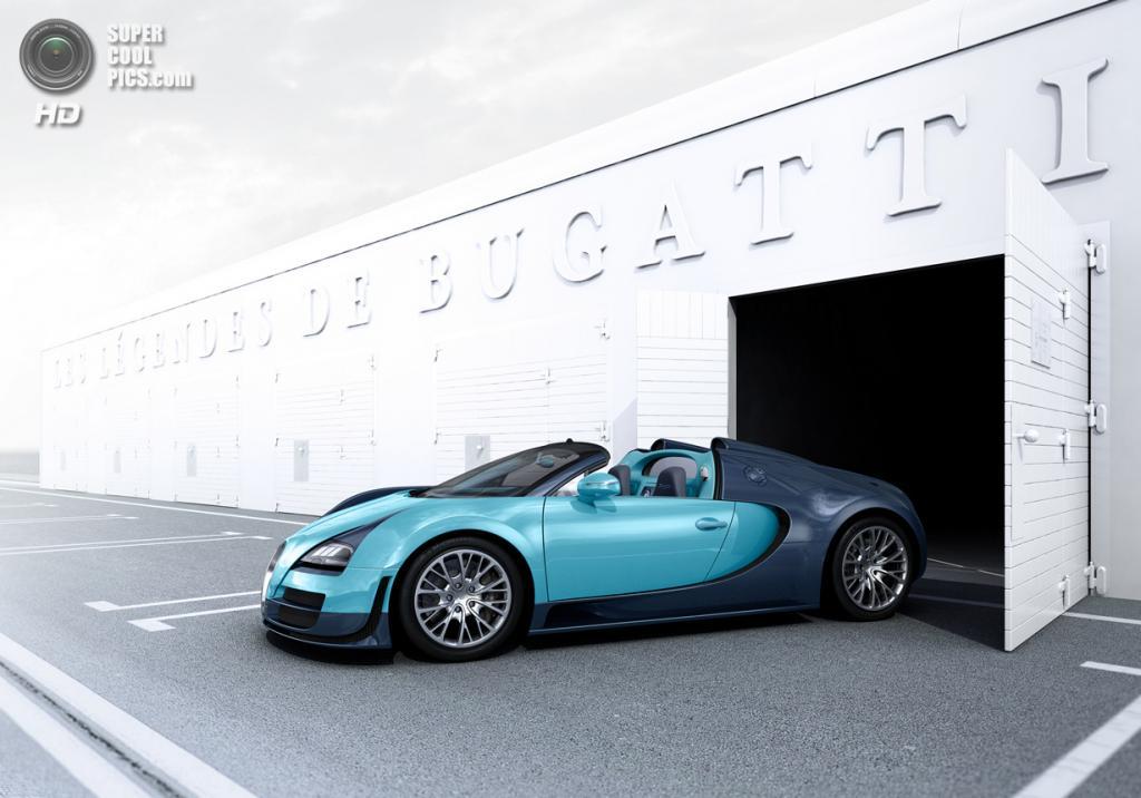 "Bugatti Veyron Grand Sport Vitesse Legend ""Jean-Pierre Wimille"". (Bugatti)"